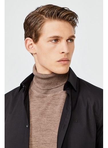 Avva Erkek  Düz Klasik Yaka Slim Fit Gömlek A02B2288 Siyah